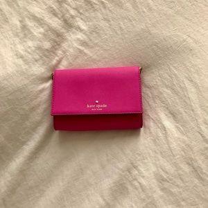 Kate Spade Mini Crossbody/Clutch Combo --Hot Pink